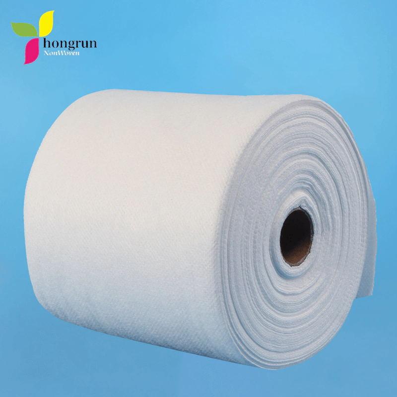 Высокое качество нетканого материала красоты ткани одноразовые полотенце для лица полотенце для рук рулон 12 см * 20 м 2 слоя 50 гсм